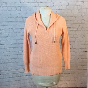 Sonoma peach waffle-knit pullover hoodie sweater